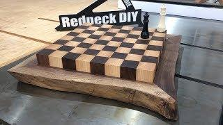 ???? Making a Live Edge Chess Board from a Slab