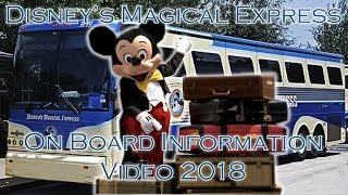 Disney's Magical Express Express On-Board Exit Video 2018 | Walt Disney World
