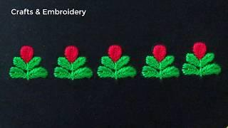 Hand Embroidery, Very Easy Border Line Embroidery Tutorial, Border Design
