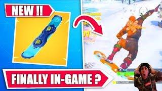 NEW UPDATE ! NEW SNOWBOARD IN GAME  !  EVENT ! (PS4 FORTNITE BATTLE ROYALE)