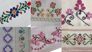Beautiful And Impressive Cross Stitch Patterns For Bedsheet Borderline