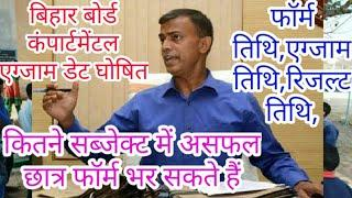 Bihar Board 12th compartmental exam Date 2019 - Samrat Sir
