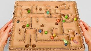 Board Game Marble Labyrinth from Cardboard