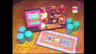 Liars Dice Board Game | Television Commercial | 1988 | Milton Bradley