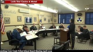CCTS School Board Meeting April 2019