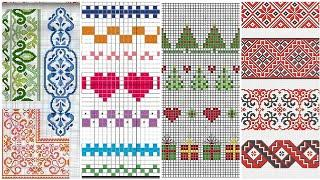 Cross stitches Borderline Pettern Beautiful Cross Stitch designs