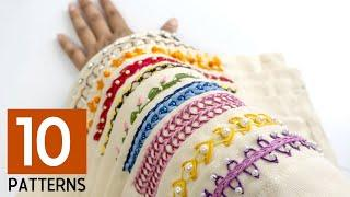 10 Hand Embroidery Border Designs: Stitching Ideas for Dress