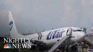 One Dead, 18 Injured After Fiery Russian Plane Crash | NBC Nightly News