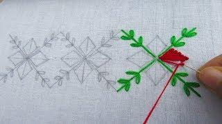 Hand Embroidery, Border Line Embroidery Design, Easy Border Design