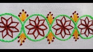 Beautiful Border line Design for Kameez #3, Hand Embroidery Border line Design by Rup Handucraft