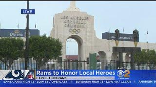 Rams Welcome Local Heroes From Woolsey Fire, Borderline Bar Shooting