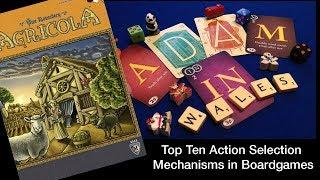 Top 10 Ways that Boardgames use Action Selection