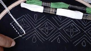 Hand Embroidery, New Border Line Design for Kamij, Nakshi Katha Border Design