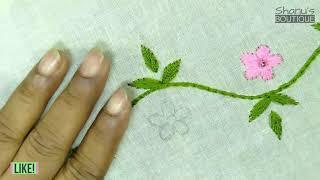Easy border line stitch | Shnu's Boutique | mini idea bangla