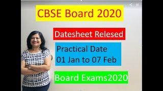 CBSE News Notification | CBSE Datesheet 2020 | cbse  board 2020 Practical exam