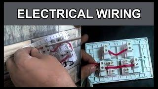 How  to do house wiring and switch board connections