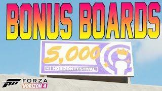 Forza Horizon 4 - ALL BONUS BOARD LOCATIONS! XP & Fast Travel
