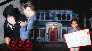 OUIJA BOARD IN HAUNTED EXORCIST HOUSE (EVIL SPIRIT)