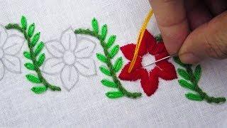 Hand Embroidery, Amazing Border Line Embroidery, Nakshi Kantha Border Design