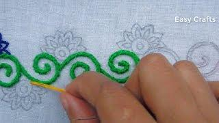 Hand embroidery,Modern border line embroidery design