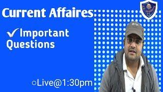LIVE CURRENT AFFAIRS important question FOR SSC GD RRB JE class 48