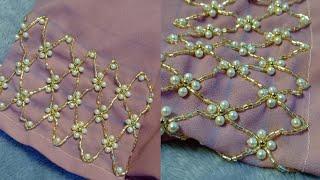 Border line Design  Hand Embroidery Beadwork Border line Design Tutorial