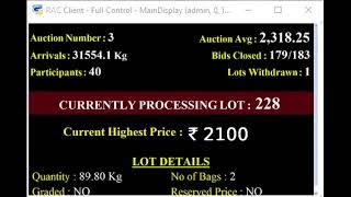 SPICES BOARD PUTTADY E-AUCTION - 02.05.2019 CPMCS LIVE