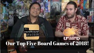Our Top Five Board Games of 2018 Featuring: The Cardboard Stacker