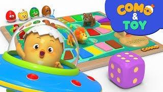 Como and Toys | Board Game |  Learn colors and words | Cartoon video for kids | Como Kids TV