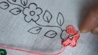 hand embroidery easy border design,border line embroidery for dress