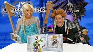 Kingdom Hearts Toy Challenge - Sora Vs. Queen Elsa ! || Toy Review || Konas2002