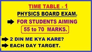 physics time table for board preparation | physics in 2 days.