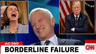 CNN Aderson Cooper Can't Stop Laught: Borderline Failure, Trump's Arrogant Flame is Extinguished