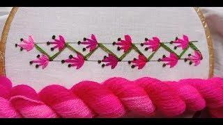 Beautiful border line design for kameez, Hand Embroidery border line design by Rup Handicraft -4