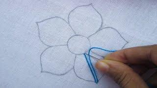 Hand Embroidery, Fantasy Flower Embroidery, Interlaced Stitch Embroidery