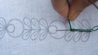 Hand Embroidery, Easy Border Line Embroidery Design