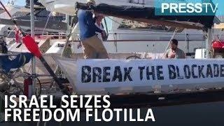 Israel seizes 2nd Gaza-bound Flotilla boat with PressTV reporter on board