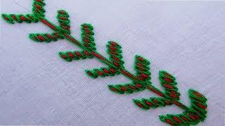 Basic hand embroidery border line embroidery design