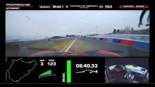 New record: 911 GT2 RS MR laps the Nürburgring Norschleife in 6:40.3 minutes.