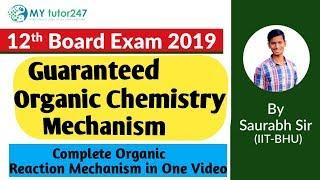 Chemistry Board Exam Class 12 : Organic Mechanism in One Video - Very Important || CbseChemistry