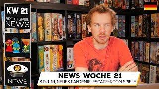 Get on Board News KW 21: Spiel des Jahres 2019, Pandemie Neuheit, Adventure Games, Awakenings, UNDO