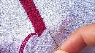 Hand Embroidery Stitch: Cross Stitch Border line Design |Basic hand embroidery tutorial part-2