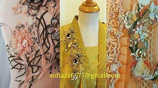 hand embroidery/ decorative border line embroidery designs/modern hand embroidery/3d embroidery