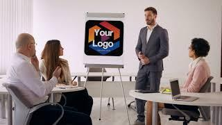 Reveal Your Logo Or Image In This Live Action Drawing Board Man Animated Intro Video