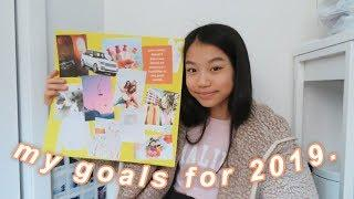 my goals for 2019 (making a dream board!)