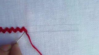 Basic Hand Embroidery Stitch,Border line embroidery, Hand Embroidery for beginner
