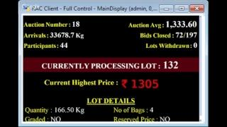 SPICES BOARD E-AUCTION PUTTADY 26/11/2018 CGFP LIVE