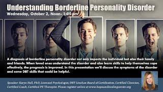 HHCI Seminars – Understanding Borderline Personality Disorder