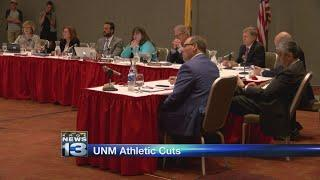 Pending athletic program cuts, UNM Board of Regents listens to emotional testimony