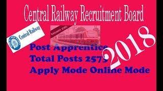 Central Railway Recruitment Board news||2018 Rail Jobs|| RRB,RRC |Trendsnow